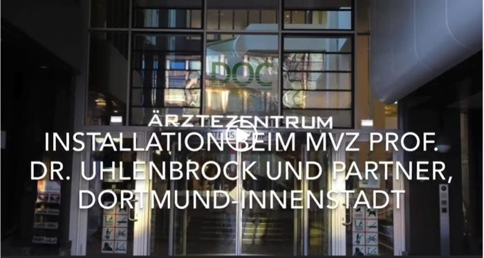 Screenshot des Videos: Installation in Dortmund