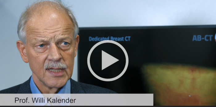 Screenshot eines Interviews mit Prof. Willi Kalender