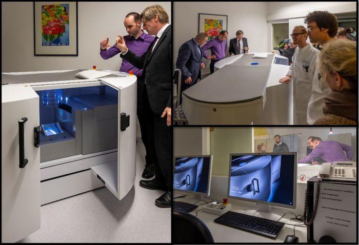 Bild der Einweihungsfeier des Spiral-Brust-CTs am Uni-Klinikum Erlangen
